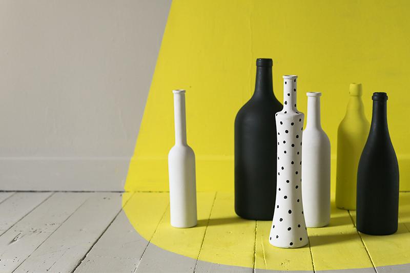 customiser des vieilles bouteilles j 39 veux tre bonne. Black Bedroom Furniture Sets. Home Design Ideas